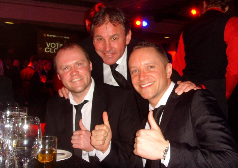 'CAPTAIN MARVEL' - With my great friend Ken Ruffley and Manchester United's legendary captain Bryan Robson. Robbo shared many great stories with us that night and treated us like family. FUN FACT: Did you know, David Beckham used to have the job of cleaning Robson's boots when he first joined United.