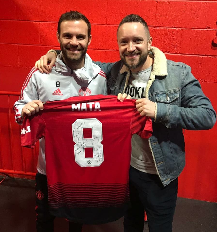 'A MATA OF FRIENDSHIP' - Juan Mata has won everything the beautiful game has to offer and I had the great honour of being his invited guest at the Theatre of Dreams for the F.A Cup 3rd round victory over Reading. I spent timewith his beautiful family and he even surprised me with the shirt that he wore (and scored in) during game. A thorough gentleman and kindness beyond words. Muchas gracias amigo!