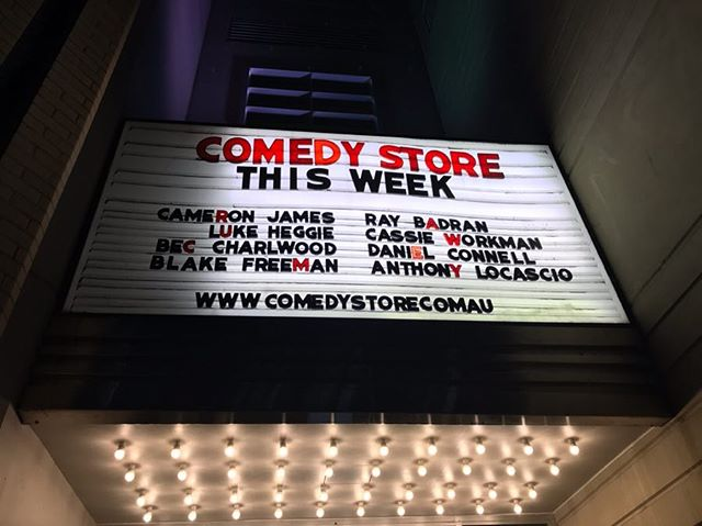 Second time around; still the most crazy and humbling honour of my comedy career. Thank you @comedystoresyd , see you soon  #sydneycomedystore #sydneycomedy #standup #standupcomedy #standupcomedian #comedy