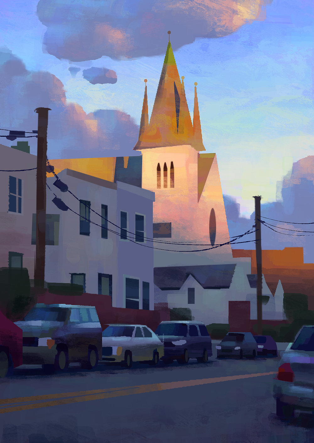 Digital Painting - Astoria NY