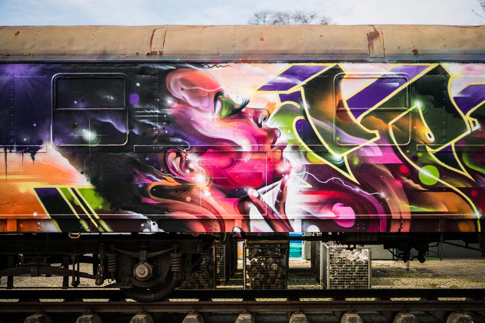 Molotow train, Germany (detail) 2017