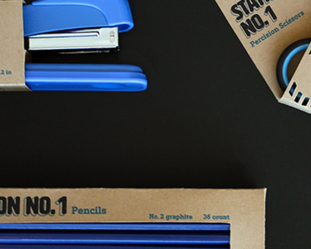 Office Supplies - Designing and creating a practical and eco-friendly office supply brand and packaging. Aimed at college students and office workers.