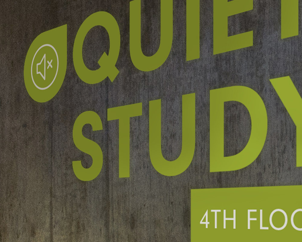 Library Wayfinding ReDesign - A group project on a redesign of wayfinding at California Polytechnic State University's Robert E. Kennedy Library, in which we combined our individual initial designs for the final design.