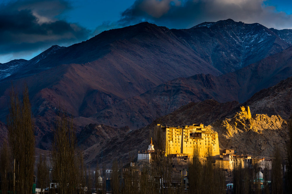 First Rays of Sun on Leh Palace