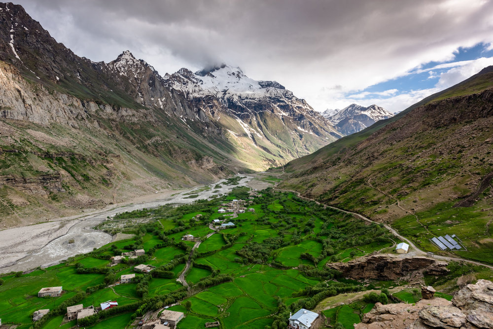Thuls Pursa Village in Zanskar Valley,India