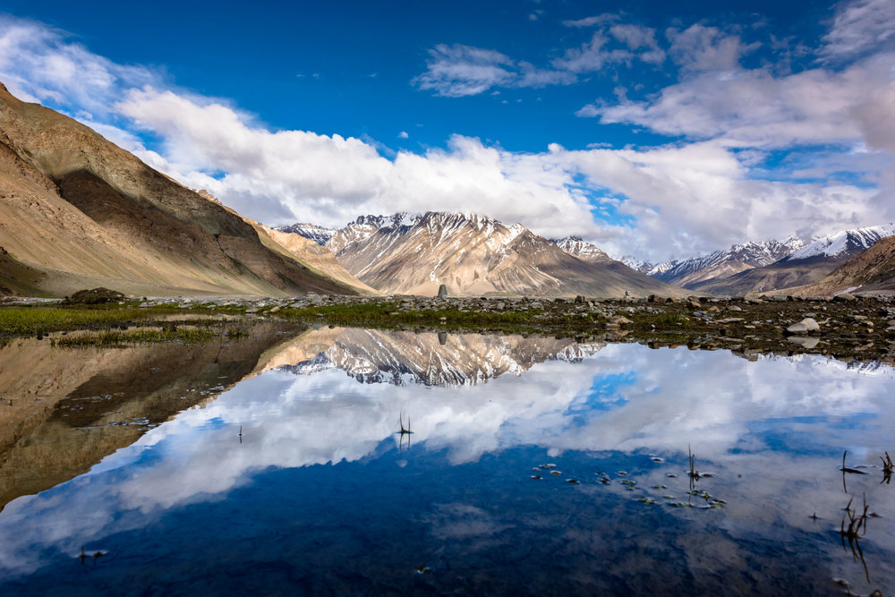 Mountain Reflections at Rangdum