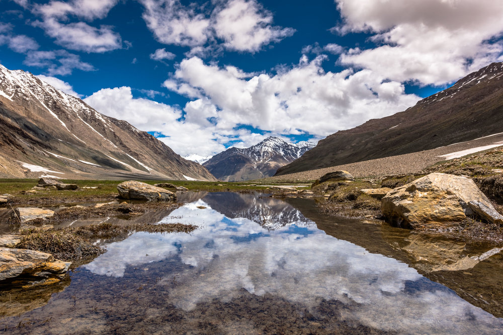 Summer Reflections in Zanskar Valley