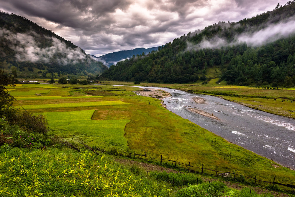 Sangthi Valley from a Vantage point