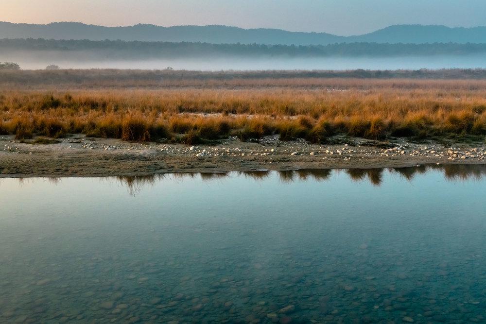 Landscapes of Ramganga at Jim Corbett National park