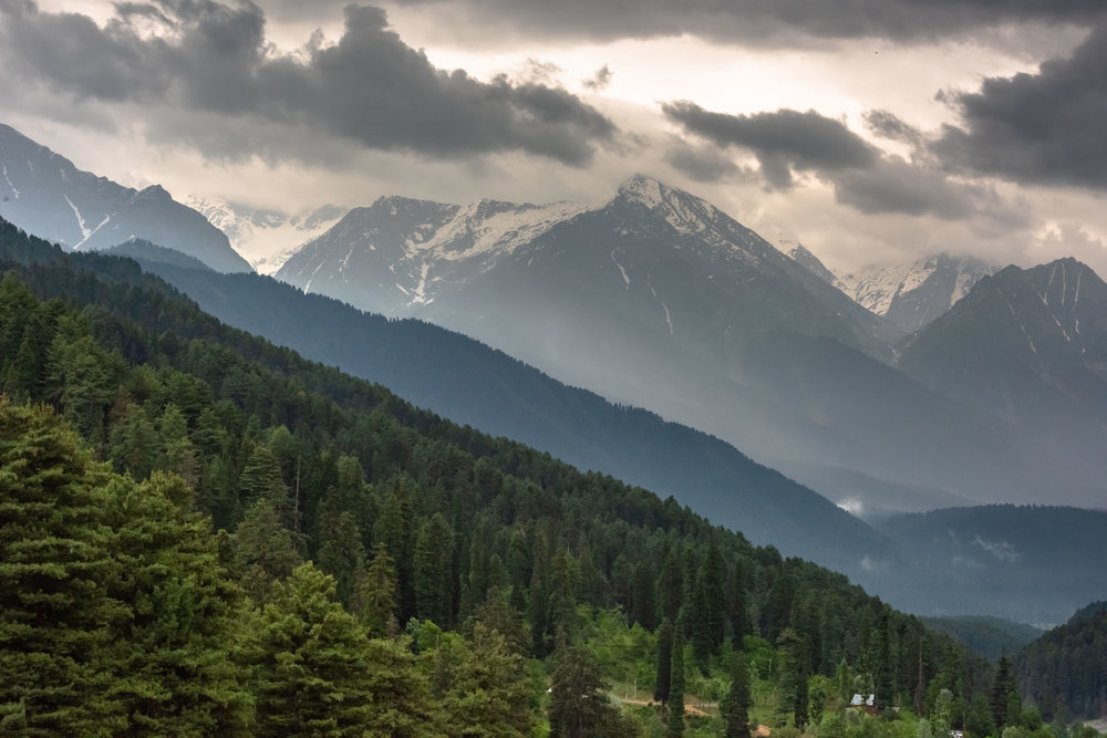 Nestled between towering mountains