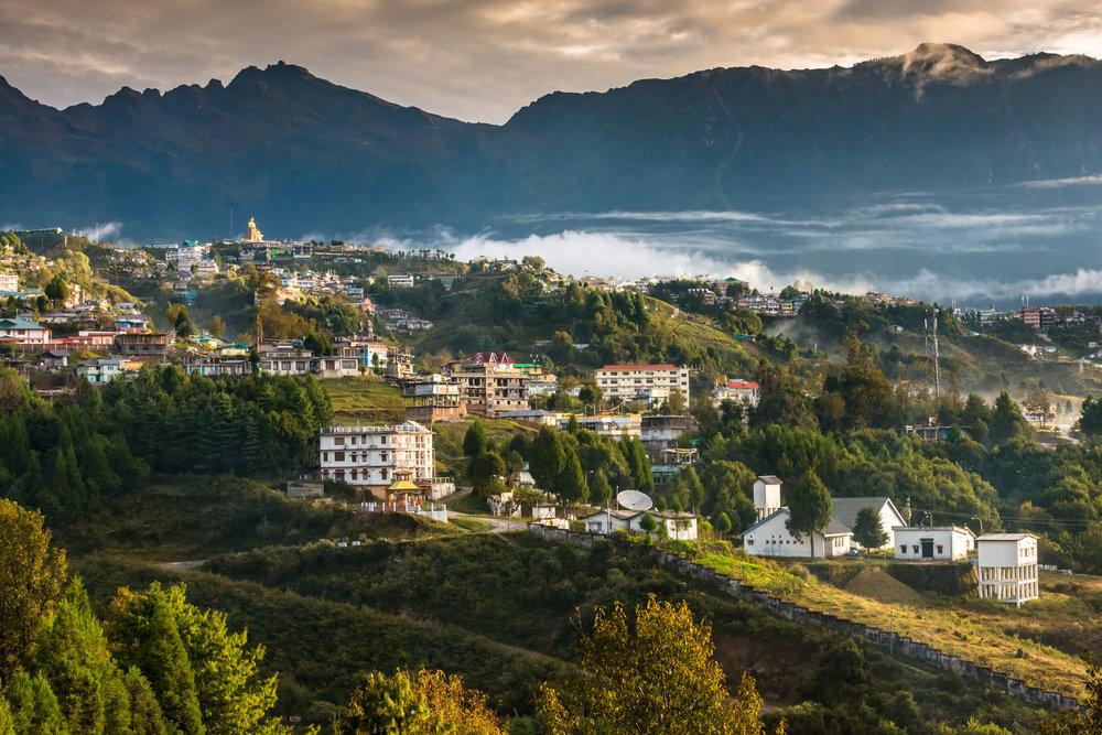 Tawang town View