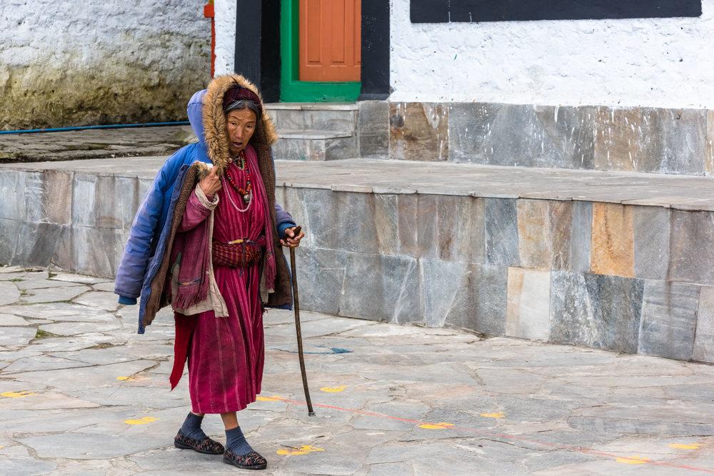 Elderly Monk in Tawang Monastery