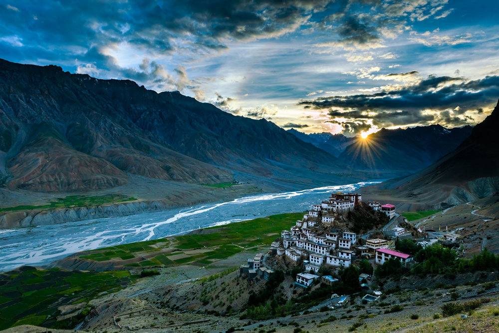 Key Monastery at Sunset