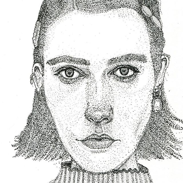 ahhh too many dots but also not enough... stipple drawing of @chayakasif