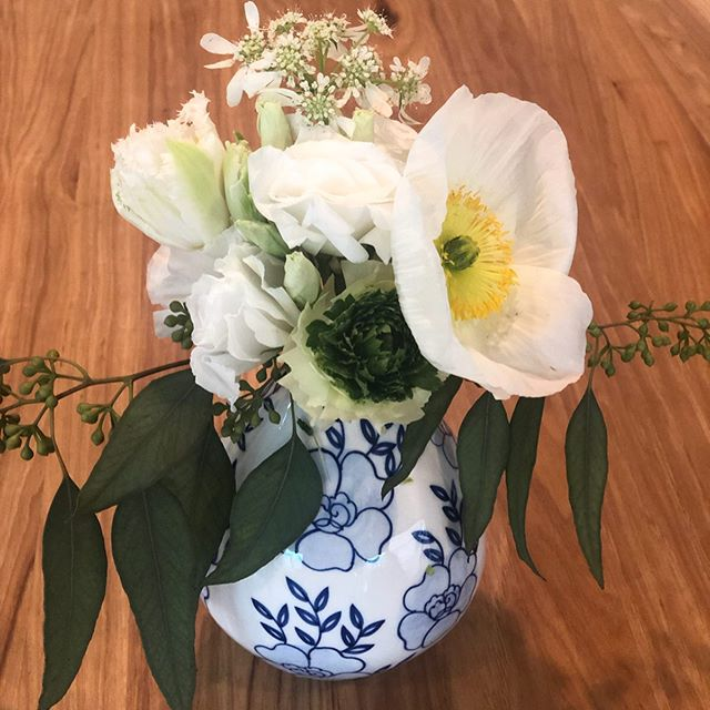 A little something pretty for your Friday! #givehellopoppy #dallasflorist #blueandwhiteforever