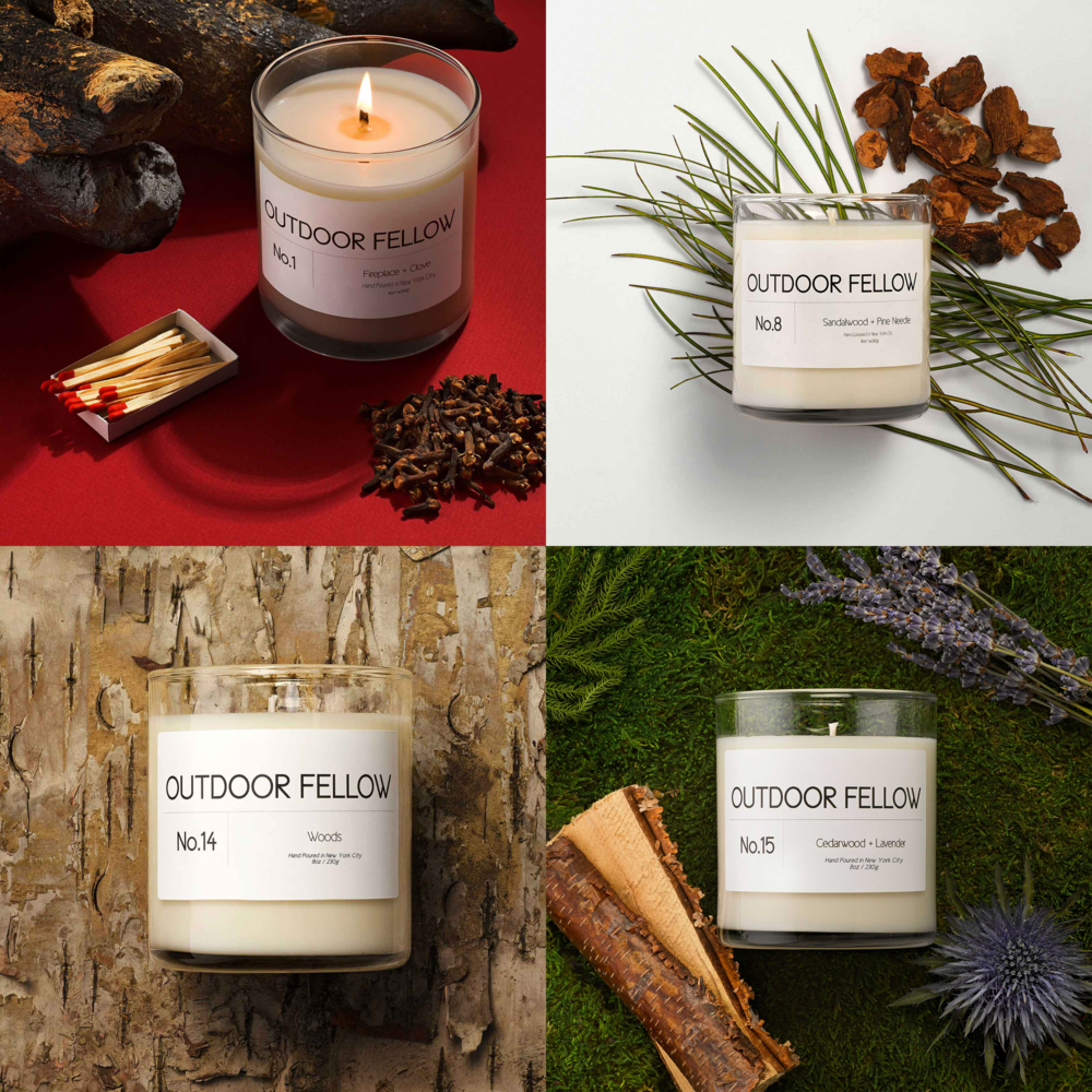 Subscribe and save. - Join Outdoor Fellow's candle subscription box program and receive a new candle every month and save 15% and enjoy free shipping!Choose from one of our signature scents or if you're still on the fence, go with the variety pack and receive a new signature scent each month for 4 months.