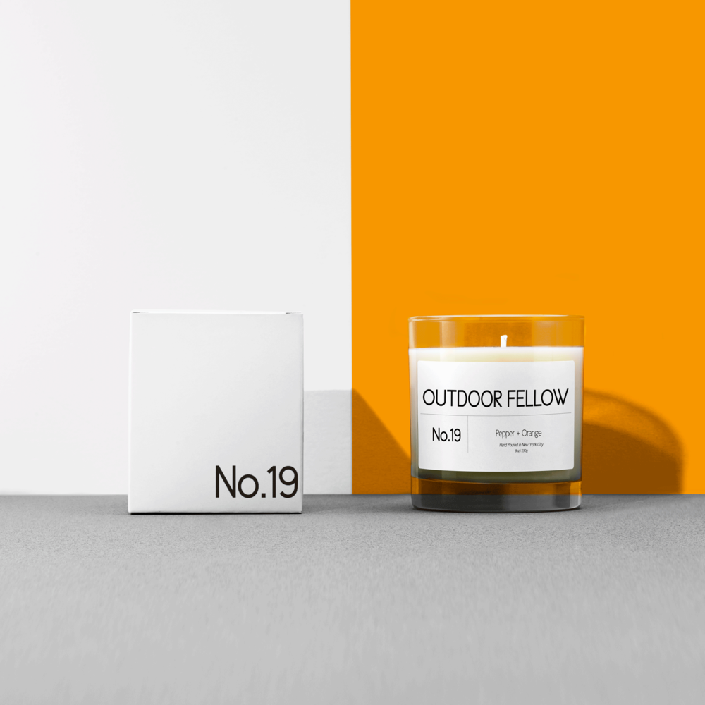 No.19 - Pepper + Orange - Spicy and citrusy, this funky candle makes a great Mother's Day treat.