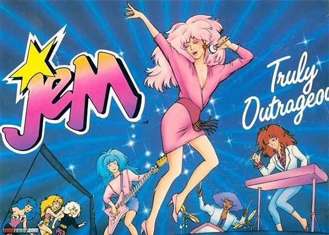 """""""Glamour 💋and glitter ✨, fashion 👙 and fame 🎤"""" Celebrating National Comic book day the Synthetics way 🦄👩🏼🎤💪🏽 #jemandtheholograms #jemismynamenooneelseisthesame 💕 #wearesynthetics #theultimate80sworkoutexperience #nationalcomicbookday"""