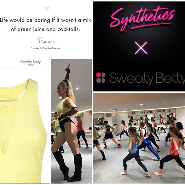 Launching @sweatybetty new Zero Gravity Aerobic Wear the only way we know how... 👱🏻♀️🌈 with THE ULTIMATE 80s WORKOUT EXPERIENCE! ⭐️#syntheticsxsweatybetty