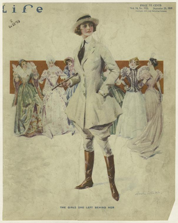 """The Girls She Left Behind Her."" 1919. Courtesy of The New York Public Library Digital Collections."