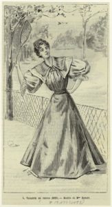"""Toilette De Tennis."" 1895. Courtesy of The New York Public Library Digital Collections."