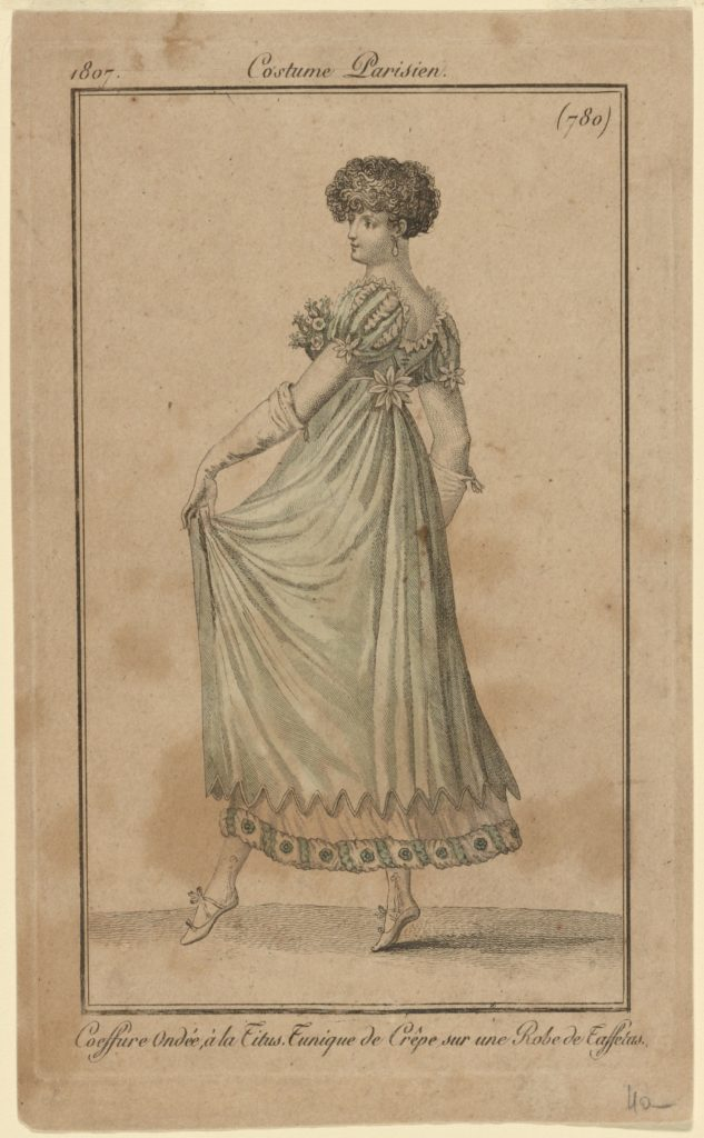 """Costume Parisien."" 1807. Courtesy of the New York Public Library Digital Collections."