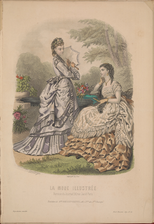 """Toilettes de Mme. Breant-Castel."" 1870 - 1870. The New York Public Library Digital Collections."