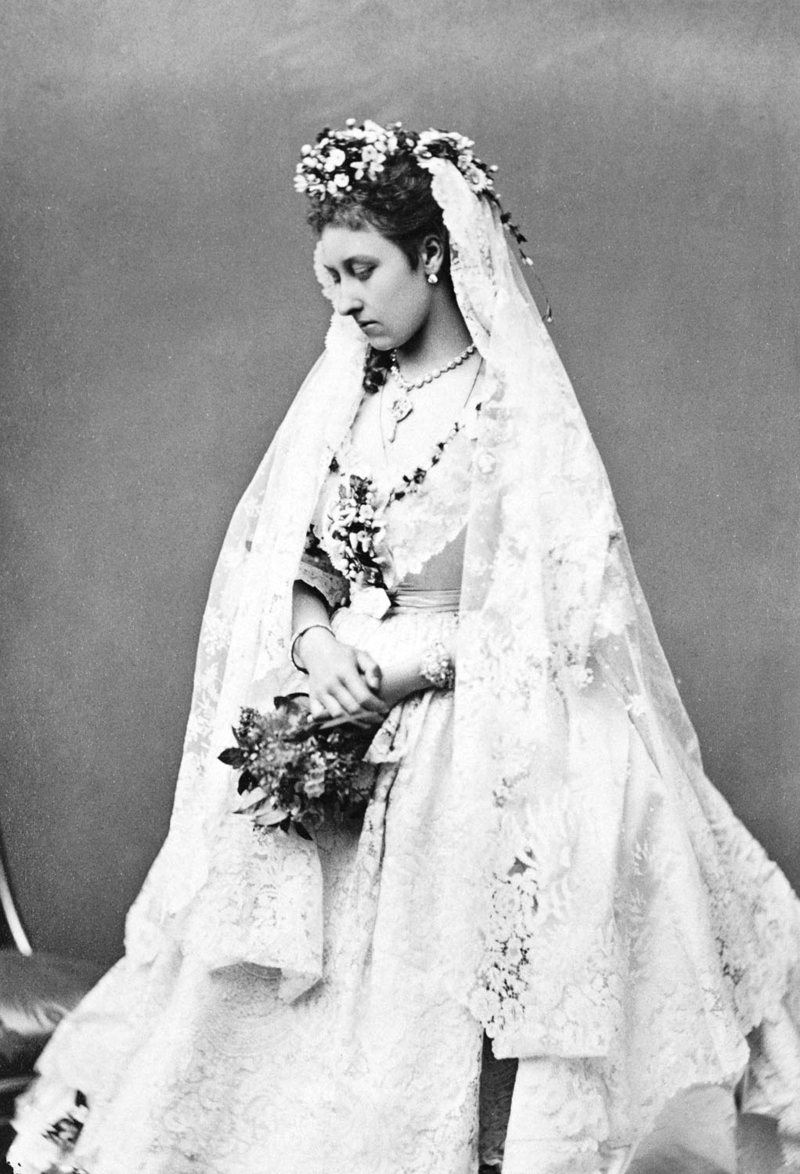 Princess Louise at her wedding, 21 March 1871, Courtesy of the  Royal Collection .