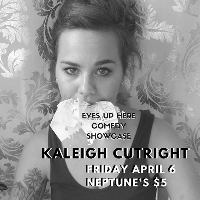 "A Pennsylvania native, Kaleigh Cutright got started in comedy after finally taking the advice of her friends and family.  She considers her style to be ""dry and whimsical."" Critics rave: ""Absolutely hilarious.""- Kaleigh Cutright ""Keep your eye on this one.""- Kaleigh Cutright ""A credit to the bureau!""- Kaleigh Cutright @kaleido_skope  @neptunesparlour doors at 7, show at 8, $5 #eyesupherecom"