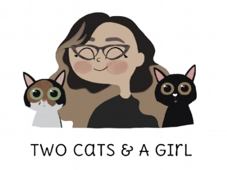 Two Cats and A Girl