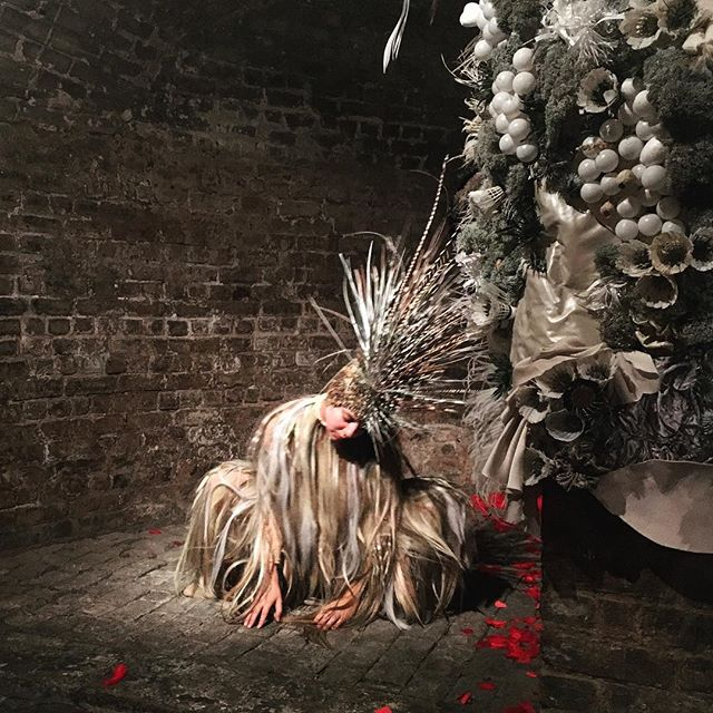 A few snaps from Collapsed and Reassembled. @sonno_x and I are exhibiting our costume and set pieces from Prometaphase 🥀 The exhibition is still on until Wednesday at the Crypt Gallery, Euston. . #gallery #exhibition #design #installation #costume #costumedesign #setdesign #performance #dance  @workinprogressdvce