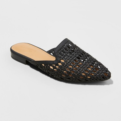 - Woven backless slip on mule by Universal Thread at Target.A chic elevated neutral at a great price. $24.99