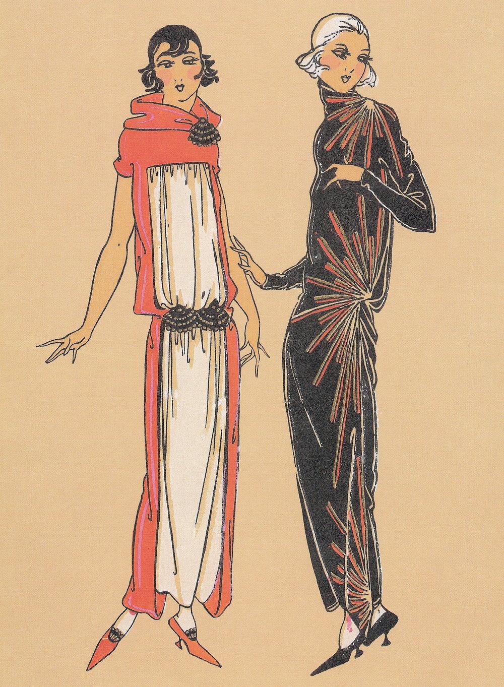blog art work-vintage deco ladies.Z8twowomendecostarburstdressnowater6.65x9.04.jpg