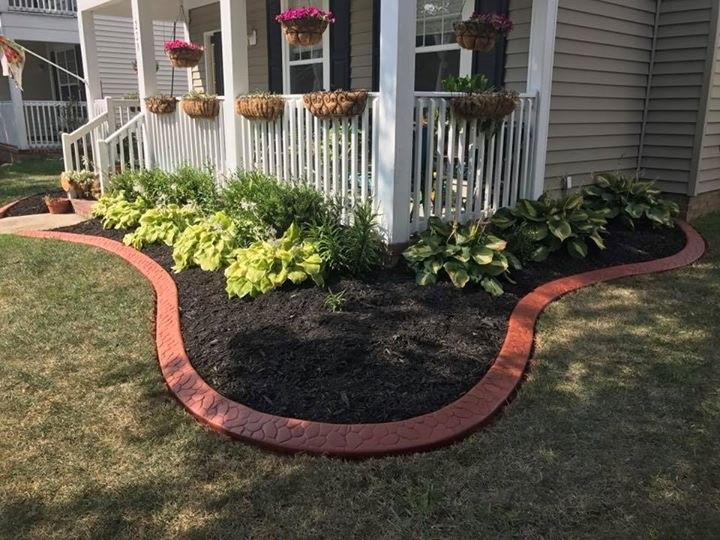 Naples Red with flagstone pattern