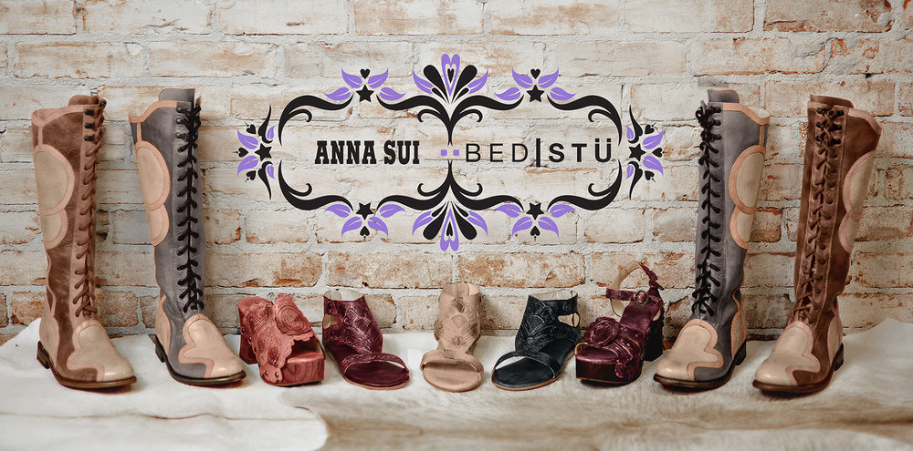 Anna Sui x Bed Stu Collaboration  - Bed Stu approached legendary fashion designer Anna Sui to create a footwear collection for her Spring/Summer 2018 collection. The marketing campaign involved press outreach, social media, as well as product placements with influencers and celebrities.