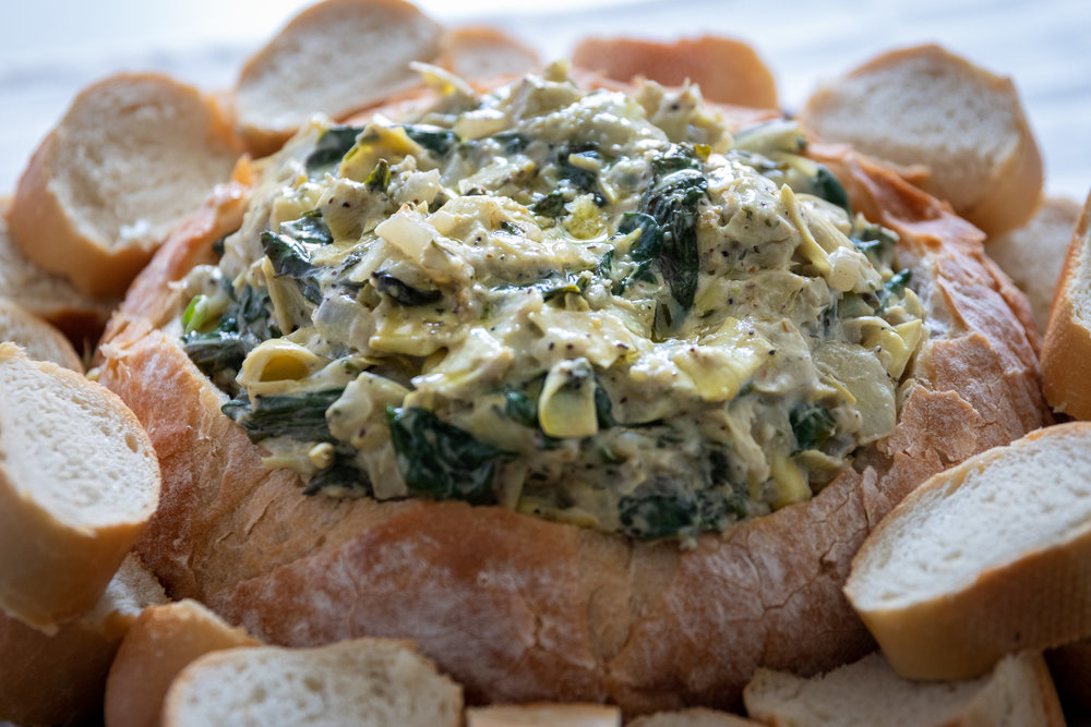 Growing up, spinach and artichoke dip was my favorite dip, especially if it was served in a bread bowl! Luckily this classic dip is super easy to veganinze, and once again you will likely fool just about anyone who tries it into thinking its not vegan at all. You can serve this dip in a bread bowl, or with a side of bread and veggies for dipping. No matter how you serve it, I promise you are gonna love it!