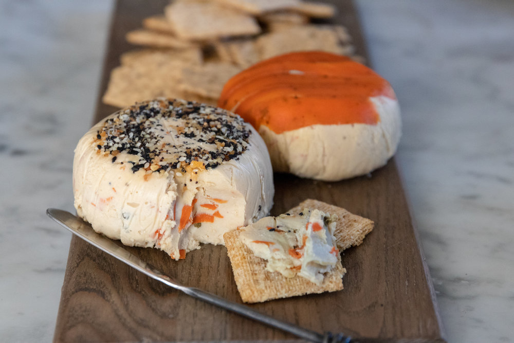 My all time favorite breakfast is a  carrot lox  bagel, with onions and capers. So it only seemed natural to take all of those elements and turn them into an absolutely perfect cheese ball. Serve this cheese ball with crackers, or veggies at a party, or smear it on a bagel for breakfast. Either way, just try not to eat the whole thing at once.