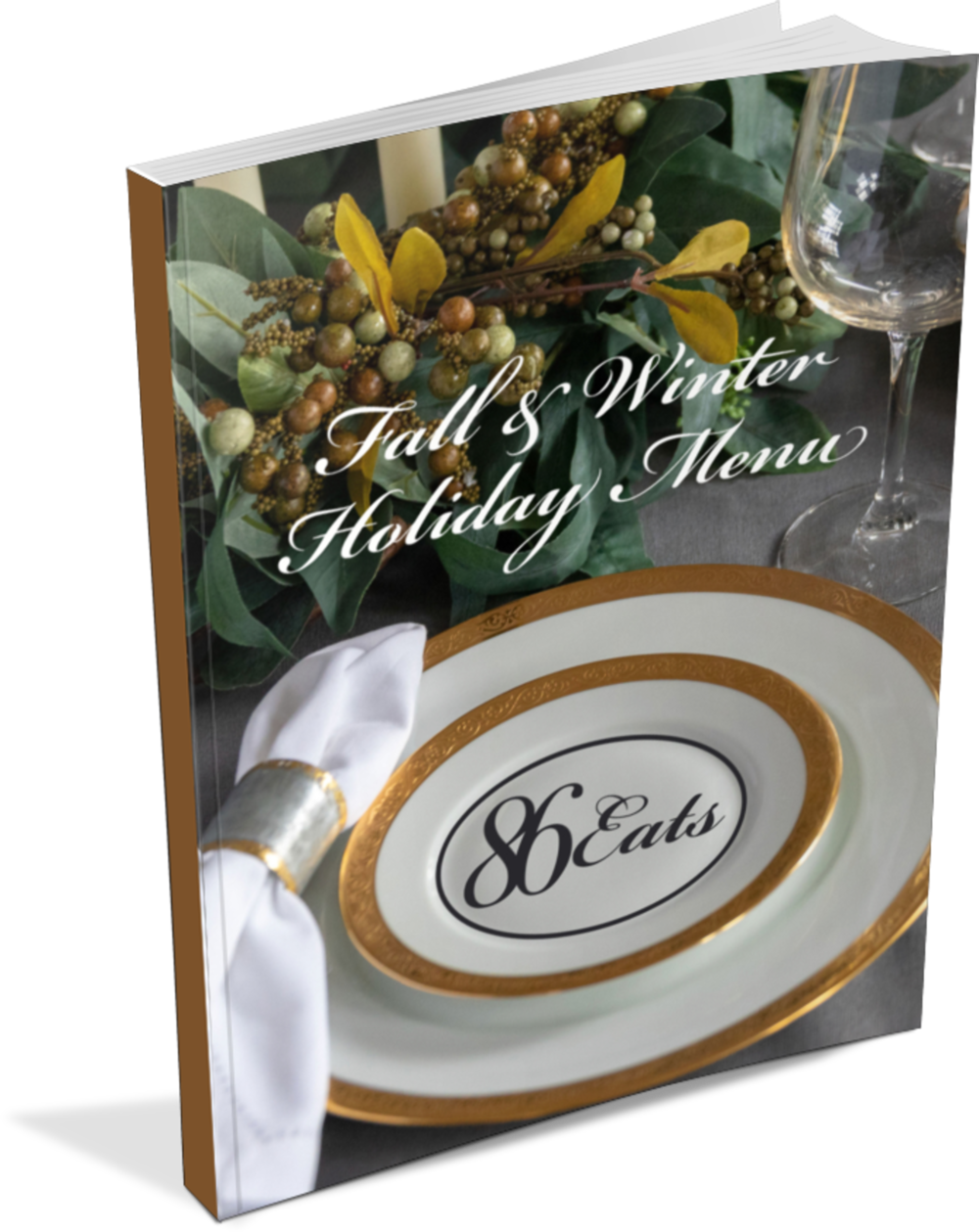 PREVIEW OUR NEW E-BOOK , an 18 recipe - plant based fall & winter holiday menu with bonus video content.