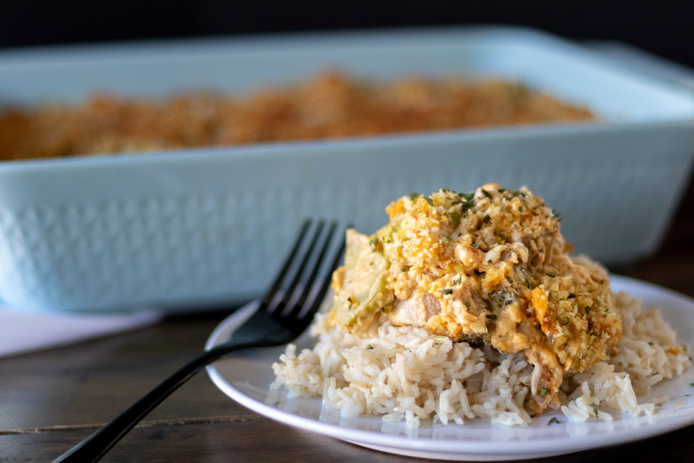 To be honest, I had never even heard of Chicken Divan until I was married and my husband introduced me to this southern classic. It was a staple and favorite in his house growing up! It is traditionally a creamy, cheesey, chicken, and broccoli comfort food that is often served with rice. Since going vegan we haven't been able to have this dish in years, so naturally it was one that needed veganizing! Using jackfruit in place of the chicken works very well as long a you cook the brine flavor out of the jackfruit first. I took the suggestion of my friend Mike who said his grandmother always added curry powder, and he was right! It is a delicious addition! So if you have never heard of this dish, or have had it in the past and miss it, go ahead and try this vegan version. I think you will be pleasantly surprised! And thanks to my mother in law, Debbi, for introducing me to this southern classic!! We wouldn't have this vegan version with you!