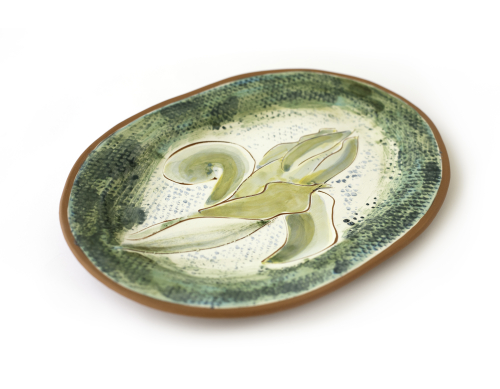 Green Fleur-de-Lys Plate