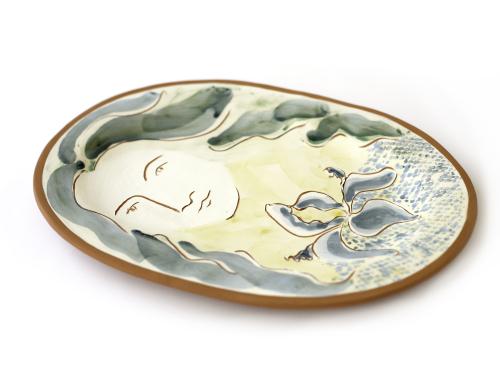 Persephone with Fleur-de-Lys Plate