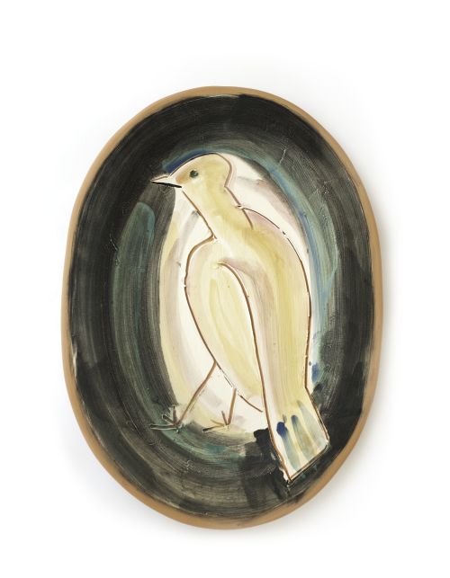 Vallauris Bird Plate