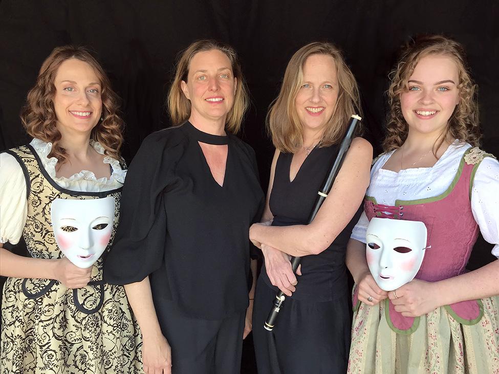 Jennifer Meller, Katherine Heater, Vicki Melin, and Irenie Melin-Gompper