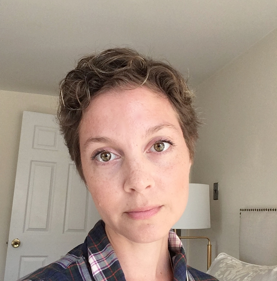 After the chop. I'm not thrilled with it (when my hair grows back, this will not be an inspo photo), but this cut will only last 2 days.
