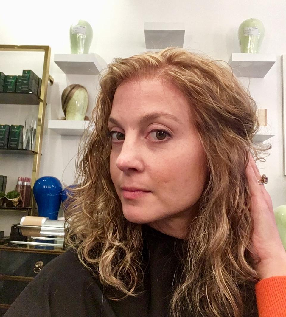 The Merria Dearman wig in the salon.