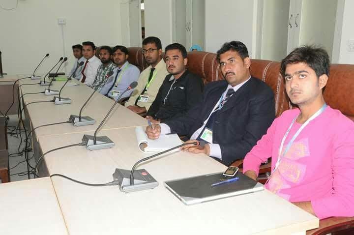Participants attending workshop at SALU, Khairpiur