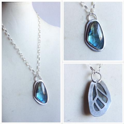 Heartsabustin butterfly pendant