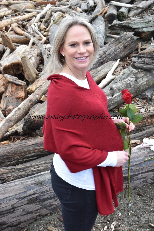 Valentines Maternity Portrait, Vancouver Island, BC