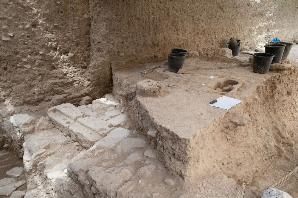 Excavation site where the pendant was discovered