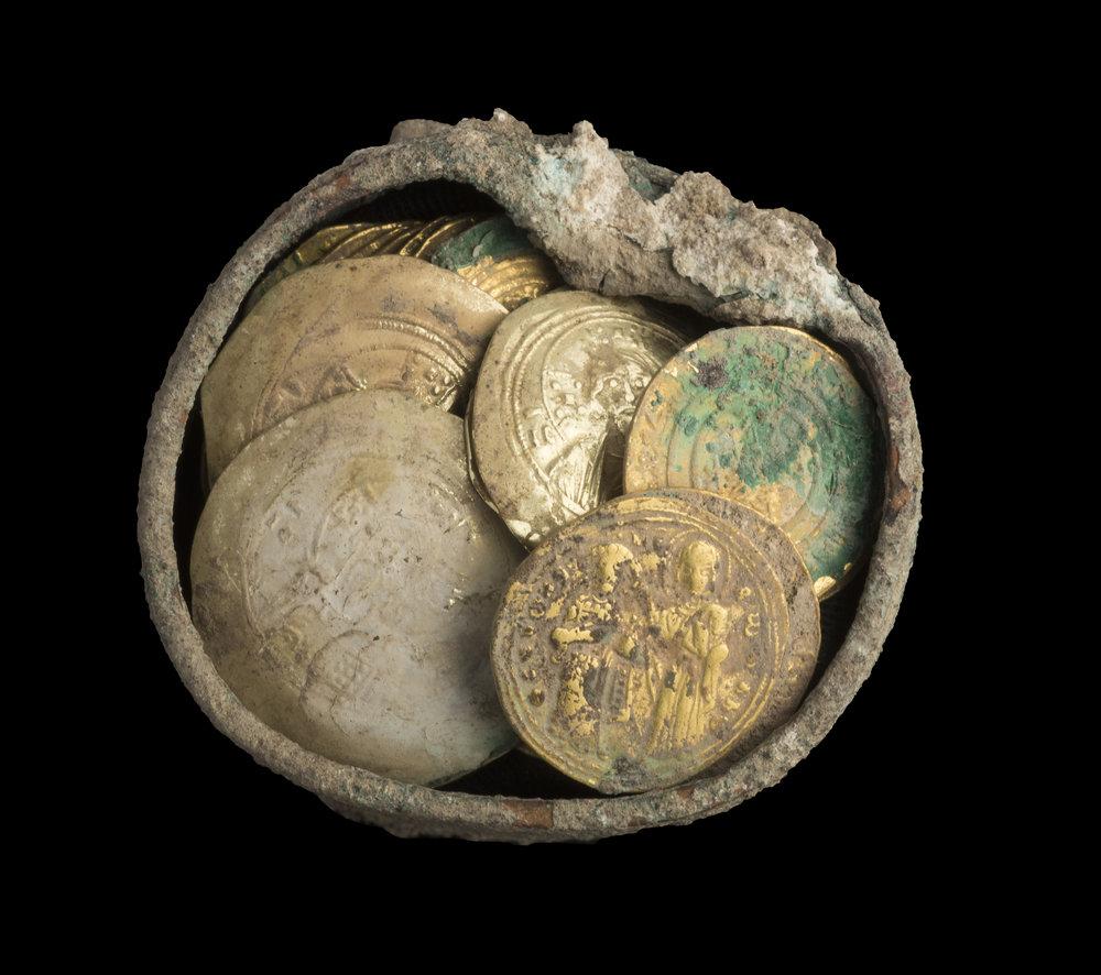 The cache.  Photo: Clara Amit,  Israel Antiquities Authority
